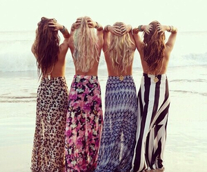 beach, skirts, and summer image