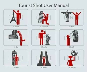 tourist, funny, and photo image