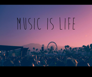 music, life, and sunset image
