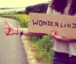 wonderland and black and white image