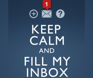 keep calm, inbox, and tumblr image
