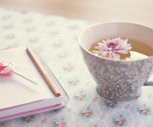 tea, flowers, and photography image