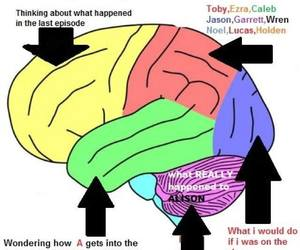 pll, pretty little liars, and brain image