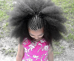 girl, Afro, and cute image