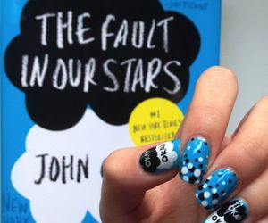 nails, the fault in our stars, and book image