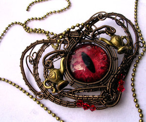 choker, heart, and necklase image