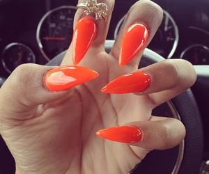 nails, orange, and ring image