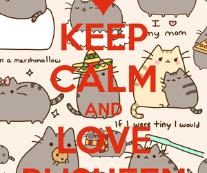 keep calm, pusheen the cat, and cute image
