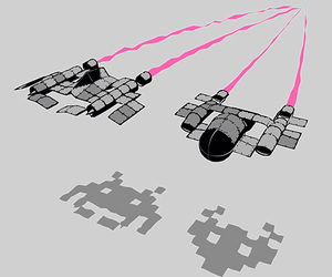 draw and space invaders image