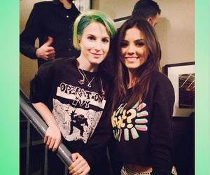 hayley williams, victoria justice, and paramore image