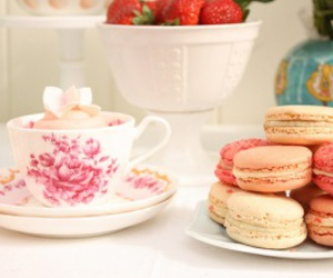 lunch, macarons, and pretty image