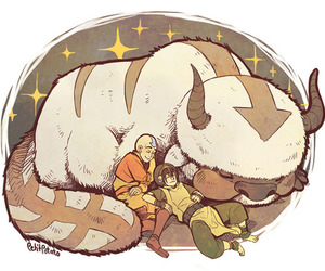 toph, aang, and avatar the last airbender image