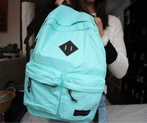 tumblr, blue, and backpack image