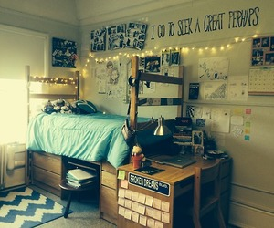 college, cool, and dorm image