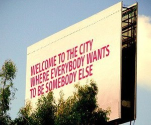 city, quote, and welcome image