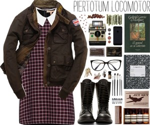 combat boots, dress, and glasses image