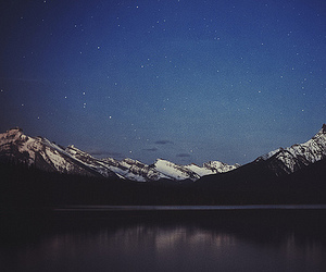 mountains, nature, and stars image