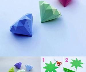 diamond, diy, and origami image