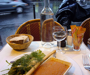bistro, dining, and france image