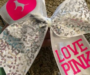 bow, cheer, and pink image