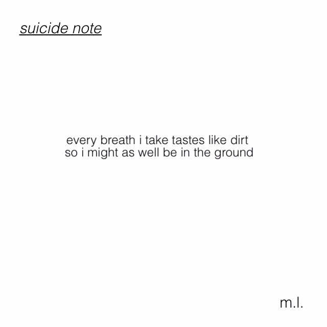 im a piece of shit on We Heart It
