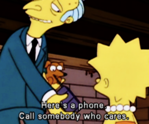lisa simpson, the simpsons, and mr burns image