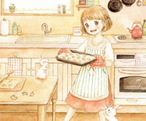 bunny, cute, and baking image