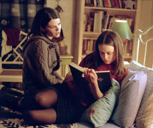 book, reading, and gilmore gilrs image