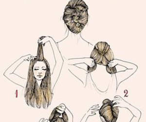 hair, diy, and style image