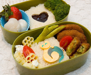 bento, cat, and delicious image