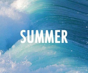 summer, blue, and waves image