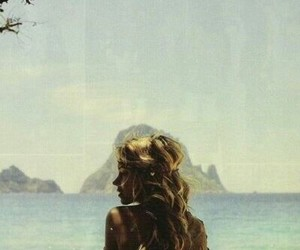 beach, vintage, and blonde image