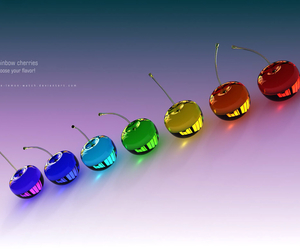 cherries, colors, and decor image