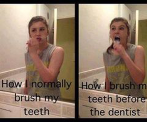 funny, dentist, and teeth image
