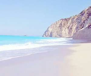 beach, blue, and pastel image