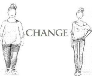 change, fat, and skinny image