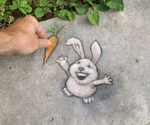bunny, drawing, and carrot image
