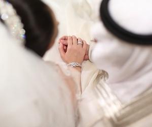 arab, couple, and wedding image