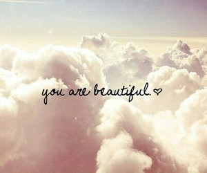 beautiful, clouds, and quote image
