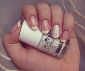 nail art, nails, and white image
