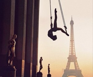 dance, eiffel tower, and paris image