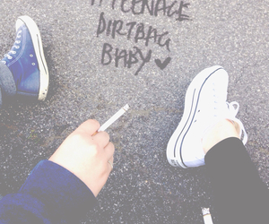 teenage dirtbag, cigarette, and converse image