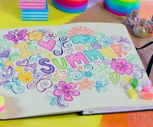 summer, doodle, and cute image