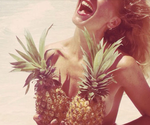 beach, sun, and pineapples image