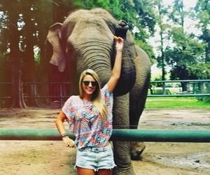 girl, animal, and blonde image