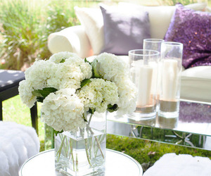 flowers, decor, and white image