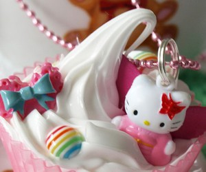 cupcake, sweet, and hello kitty image