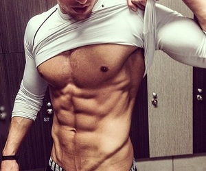 abs, shirtless, and boy image