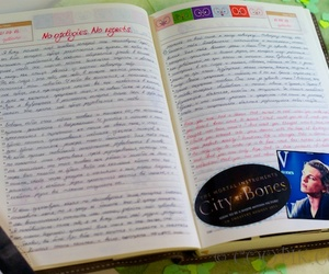 diary, writing, and inspiration image