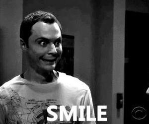 smile and sheldon cooper image